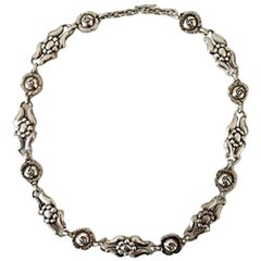 Georg Jensen Sterling Silver Necklace No 10 from 1910-1925