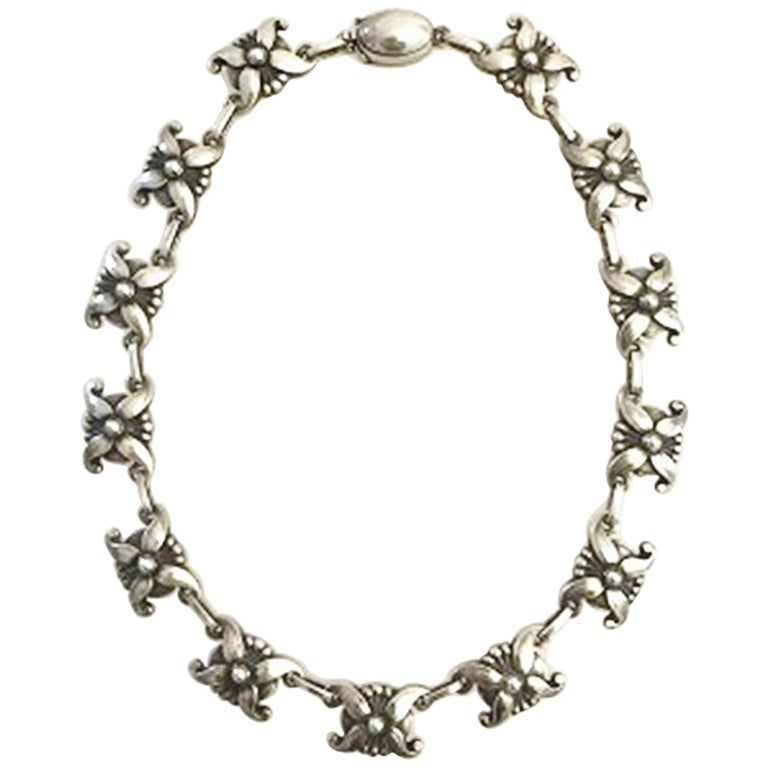 Georg Jensen Sterling Silver Necklace No 18A