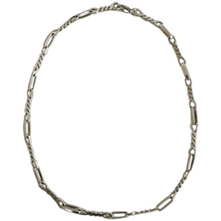 Georg Jensen Sterling Silver Necklace No 21