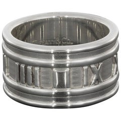 Tiffany & Co. Atlas Sterling Silver Wide Band Ring