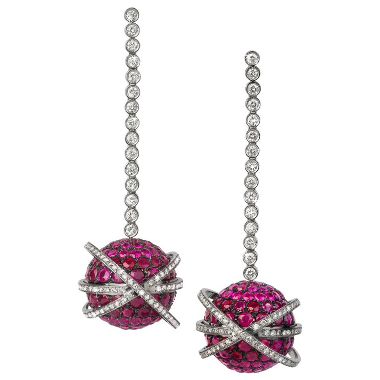 Rubies and Diamonds Valadier Dangle Earring