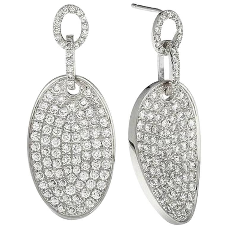 Emilio Jewelry One of a Kind Micro Pave Diamond Earrings