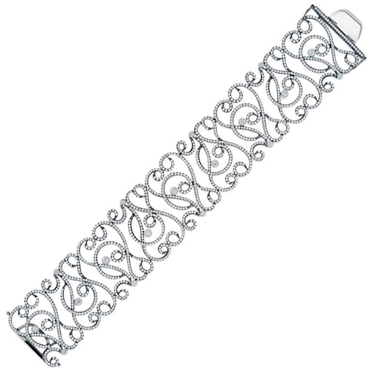 Diamond 18 Karat Gold Bracelet