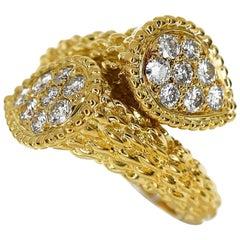Boucheron Carat Diamond 18 Karat Yellow Gold Serpent Bohème Toi et Moi Ring