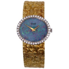Piaget ladies yellow Gold Diamond Opal Dial wristwatch