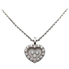 Chopard .69 Carat, Happy Heart Diamond Pendant