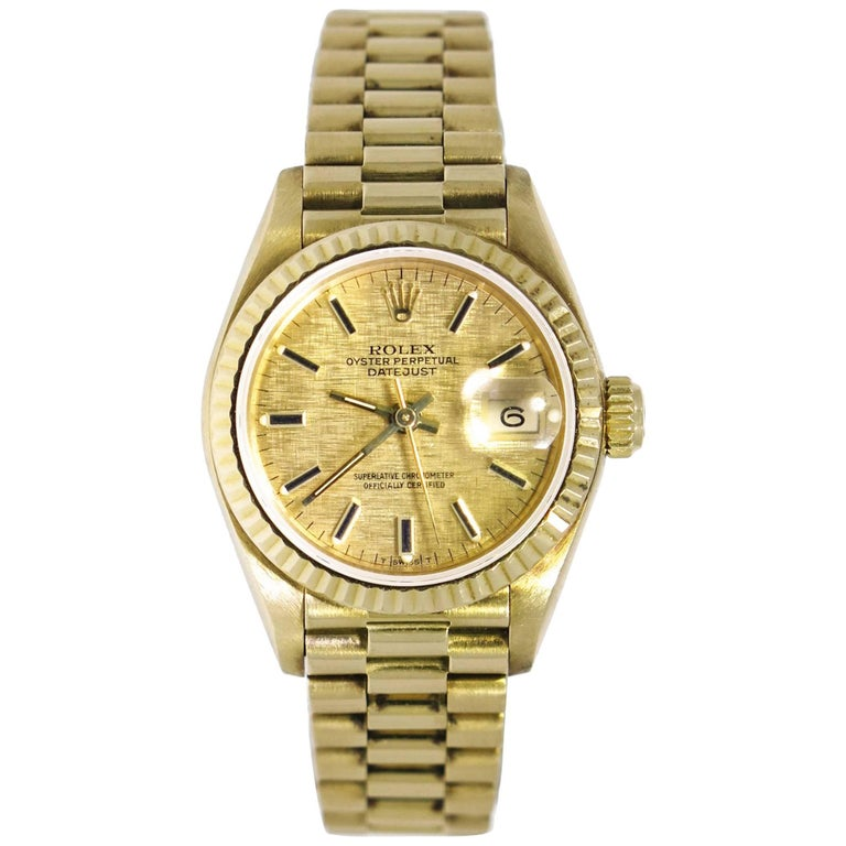 Rolex Ladies Yellow Gold President self-winding Wristwatch Ref 69178