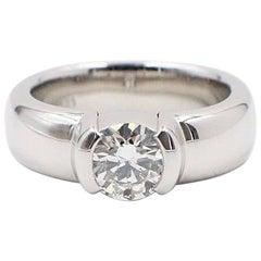 Tiffany & Co. Etoile Round Brilliant Diamond and Platinum Ring 0.85 Carat