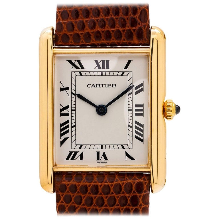 Cartier Yellow Gold Tank Louis quartz Wristwatch, circa 1990s