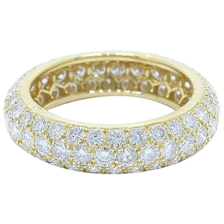 Cartier Anniversary 2.13 TCW Diamond Band Ring 18K Yellow Gold w/ Box & Papers