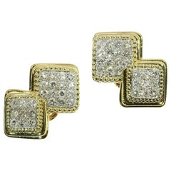 Boucheron 3.60 Carat Diamond Platinum 18 Karat Gold Clip-On Earrings, 1950s