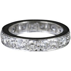 Antique Edwardian Diamond Eternity Ring Platinum, circa 1915