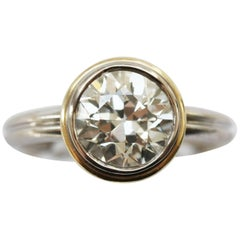 3.18 Carat Old European Cut Diamond Solitaire Ring