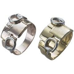 Snaffle Bit Ring in Solid 9 Karat Gold