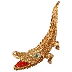 Crocodile Brooch