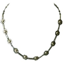 Georg Jensen Sterling Silver Necklace of Small Flowers No 42A from 1915-1930