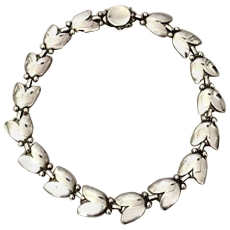 Georg Jensen Sterling Silver Choker Necklace No 66