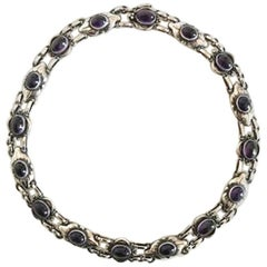 Georg Jensen Sterling Silver Amethyst Necklace No 57