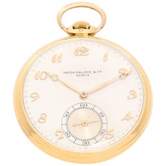 Patek Philippe & Co. Yellow Gold Open Face Manual Pocket Watch