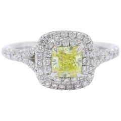 Tiffany & Co. Soleste Fancy Intense Yellow 0.97 Carat Diamond Engagement Ring