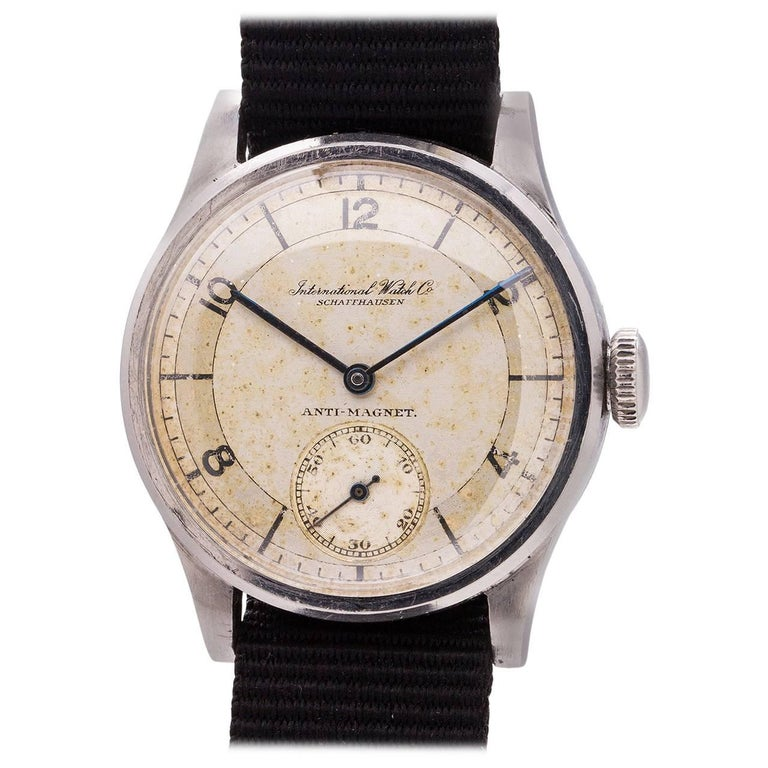 IWC Stainless Steel Calatrava Manual Wind Wristwatch, circa 1940s