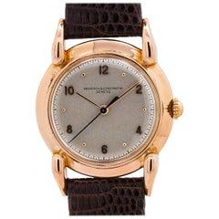 Vacheron & Constantin Pink Gold Manual Wristwatch, circa 1950s