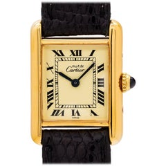 Cartier Ladies Vermeil Tank Louis Quartz Wristwatch, circa 2000s
