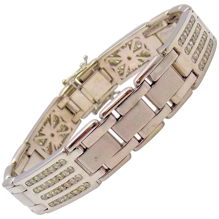 Diamond Line Bracelet For Sale