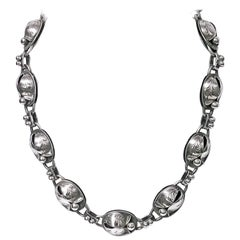 Georg Jensen Sterling Necklace and Bracelet, circa 1940