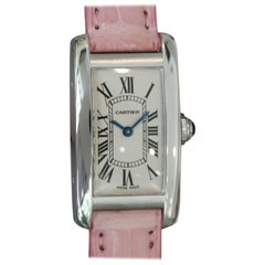 Cartier Ladies White Gold Tank Americaine Quartz Wristwatch