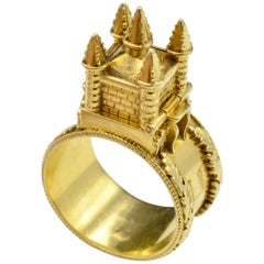 Gold Dome Rings