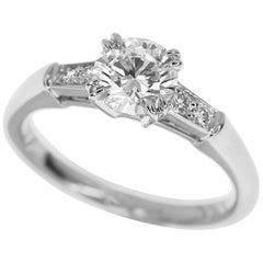 Harry Winston Tryst Round Brilliant 0.71 Carat Diamond Platinum Ring