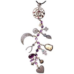 Clarissa Bronfman 'Love You to the Moon and Back' Symbol Tree Necklace