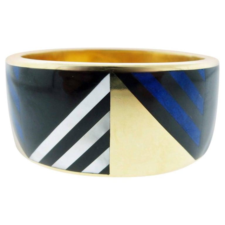 Angela Cummings for Tiffany & Co. Inlay 18 Karat Bracelet