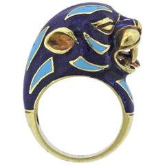 Frascarolo Enamel Gold Animal Motif Ring
