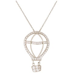 Tiffany & Co. Diamond and Platinum Hot Air Balloon Pendant Necklace 0.33 Carat
