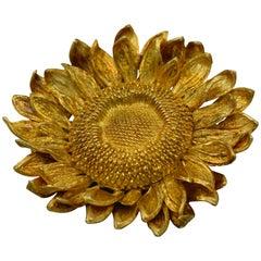 Asprey Gold Sunflower Pin
