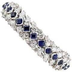 Oscar Heyman Sapphire Diamond and Platinum Bracelet