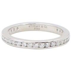 Tiffany & Co. Round Diamond Full Circle Wedding Band Ring Platinum