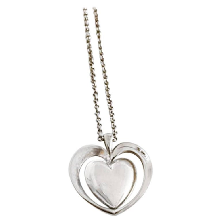 Georg Jensen 2013 Sterling Silver Annual Pendant Necklace