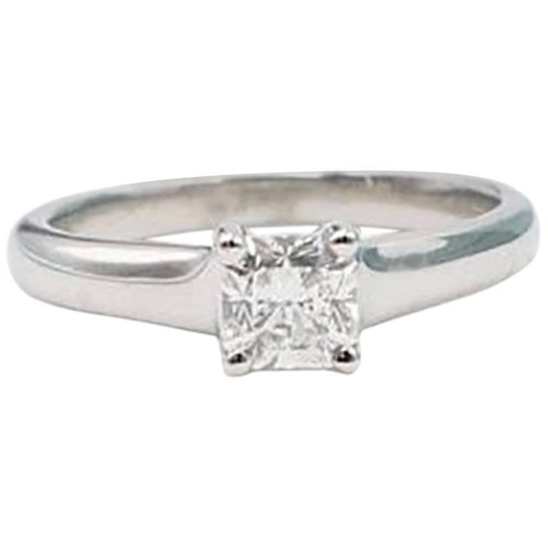 Tiffany & Co. Lucida 0.48 Carat Diamond and Platinum Engagement Ring with Box