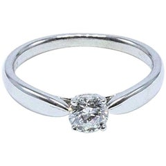 Tiffany & Co. Harmony 0.39ct H Internally Flawless Diamond Engagement Ring Plat