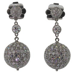 Platinum Diamond Sphere Earrings