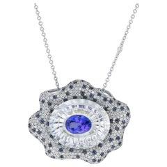 Gravity Collection Tanzanite White Topaz Sapphire Diamond Gold