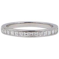 Tiffany & Co. Princess Cut 0.39 Carat Diamond Wedding Band Ring in Platinum