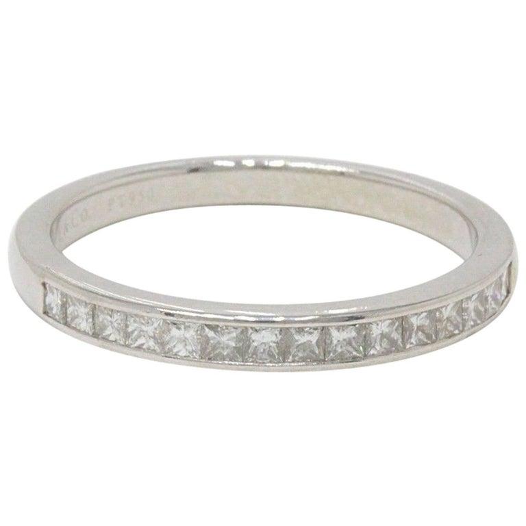 Tiffany & Co. Princess Cut Diamond Wedding Band Ring in Platinum