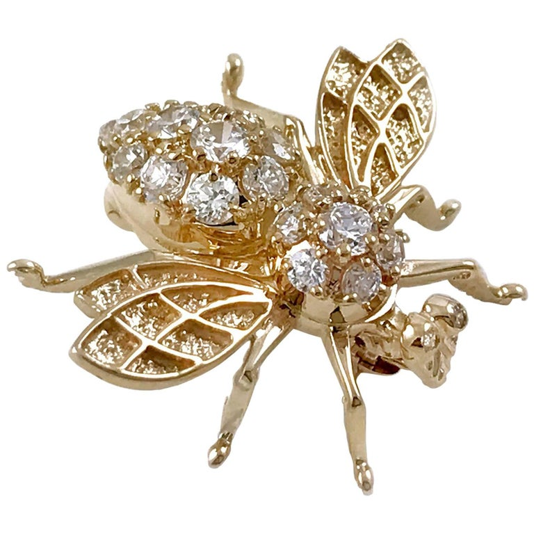 Vintage Gold Honey Bee Brooch or Pin