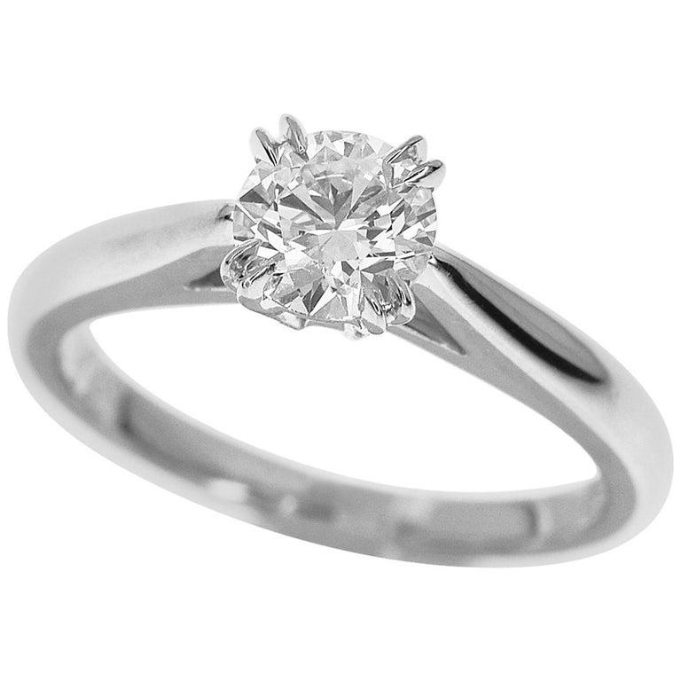 Harry Winston 0.51 Carat Diamond Platinum Solitaire Round Brilliant Ring