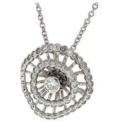 Boucheron Diamonds 18 Karat White Gold Ma Jolie Pendant Necklace