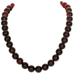 Cherry Amber Bead Necklace